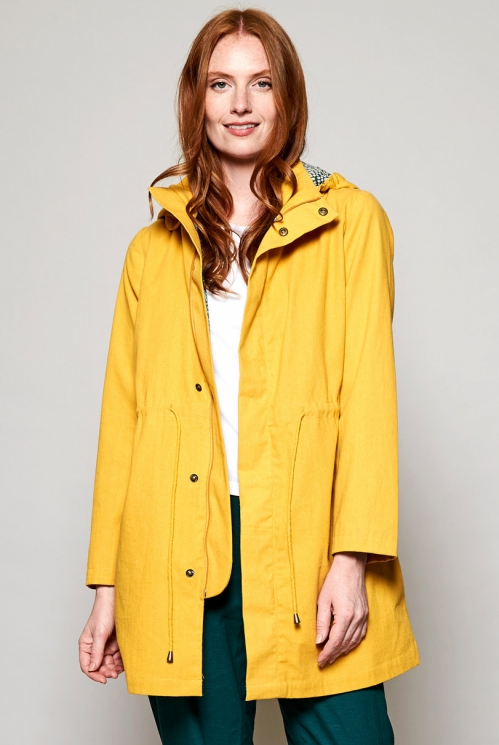 Fair Trade Dandelion Yellow Organic Cotton Raincoat