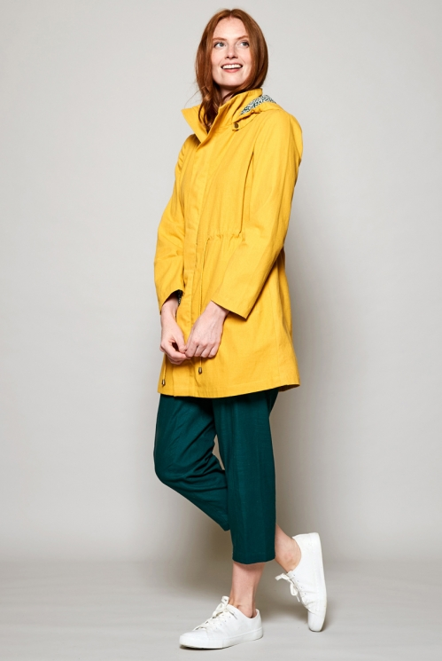 Dandelion Yellow Fair Trade Organic Cotton Raincoat