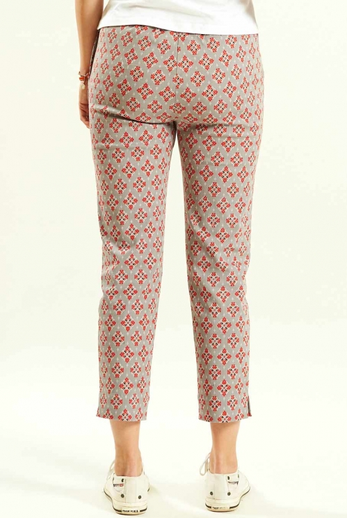 Pebble Crop Trousers (back)