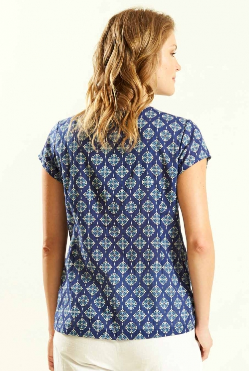Indigo Cap Sleeve Top