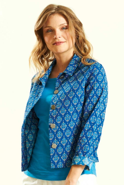 Indigo Printed Jacket