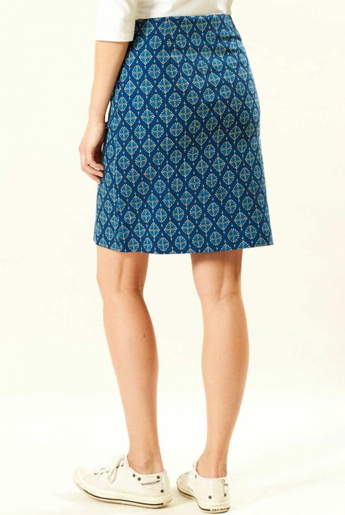 Indigo Stretch Skirt (back)