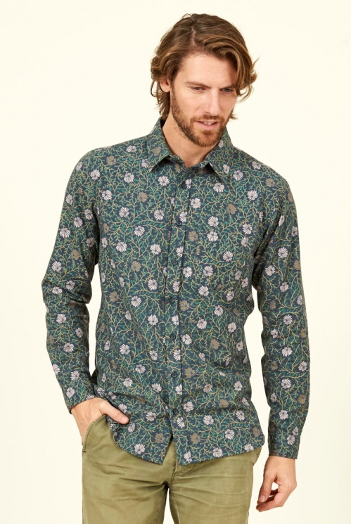 Biscay Botanical Long Sleeve Cotton Shirt