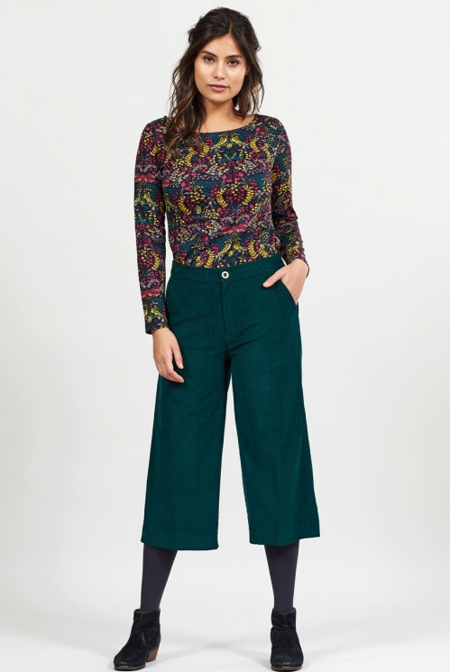 Bay Cord Wide Leg Cropped Trousers