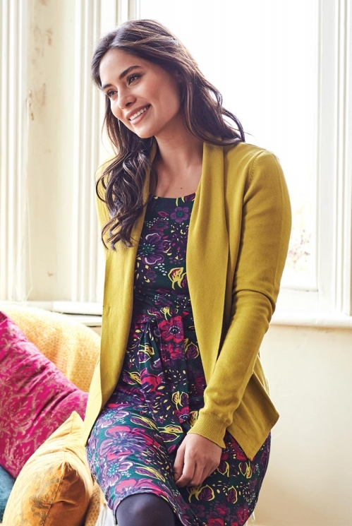 Lemongrass Fair Trade Cosy Shawl Collar Cardigan
