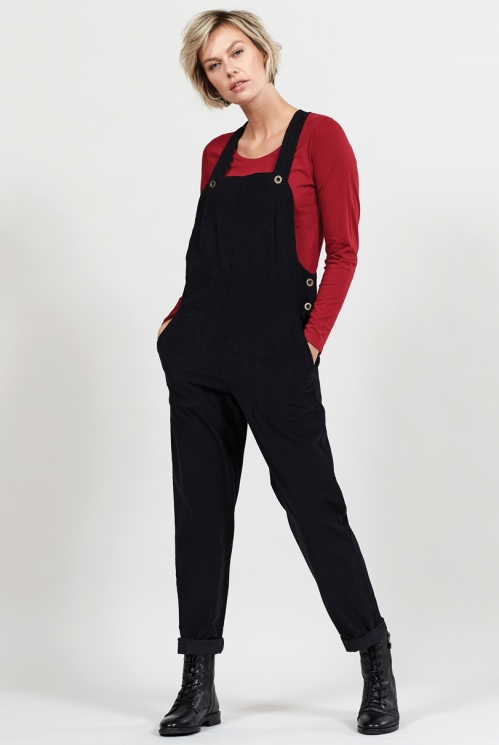 Graphite Sustainable Cotton Cord Dungarees