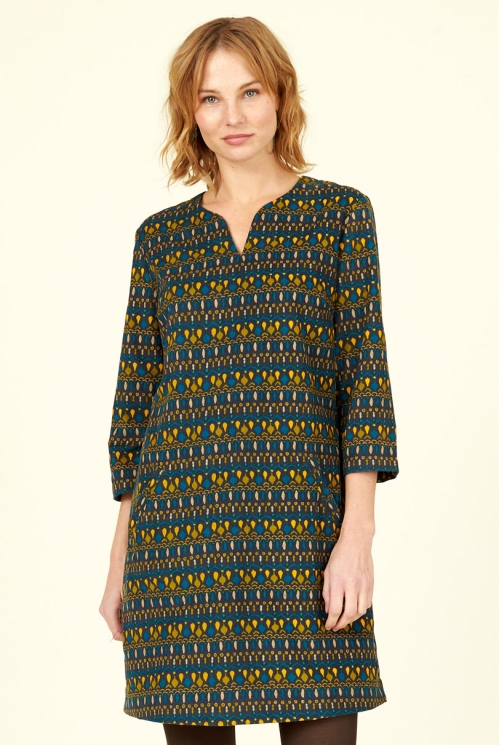 Ink Cotton Cord Tunic Dress