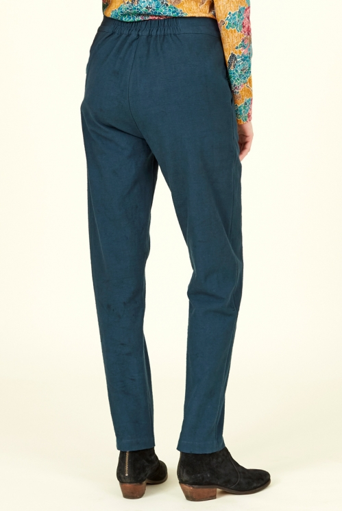Ink Cotton Slim Leg Trousers