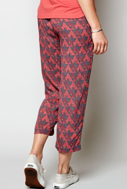Aniseed Cropped Slim Leg Trouser