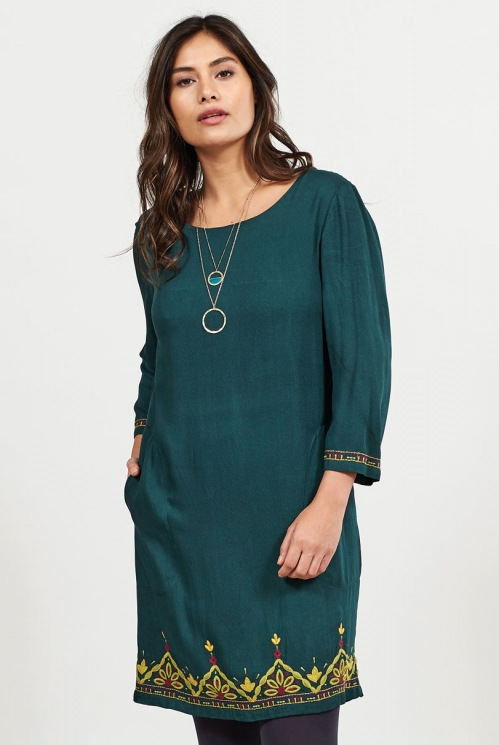 Bay Embroidered Tunic Dress