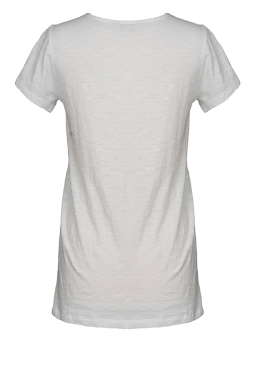 White Embroidery T-Shirt (back)