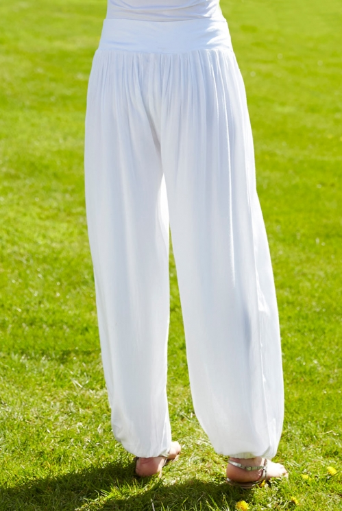 White Harem Trousers (back)