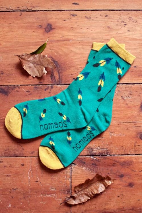Peppermint Feather Organic Cotton Socks