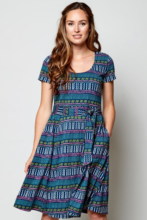 Voyage Fit and Flare Organic Jersey Dress