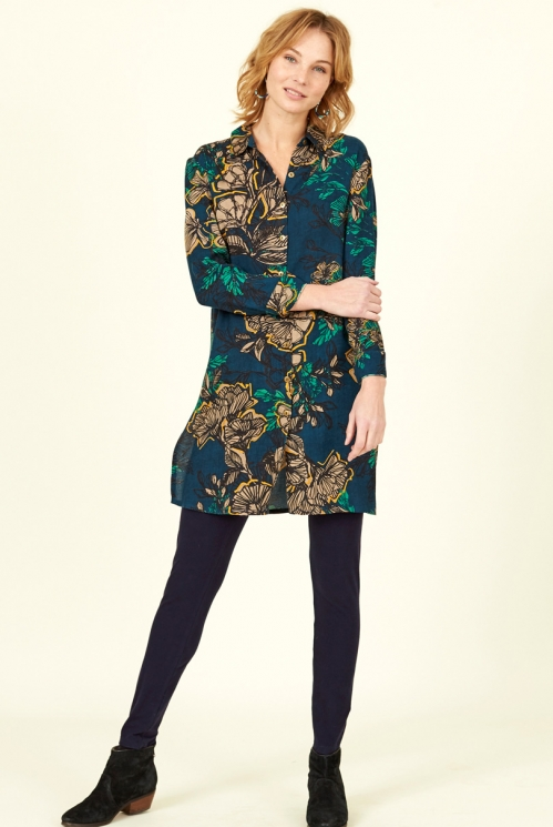 Biscay Floral Tunic Shirt Dress