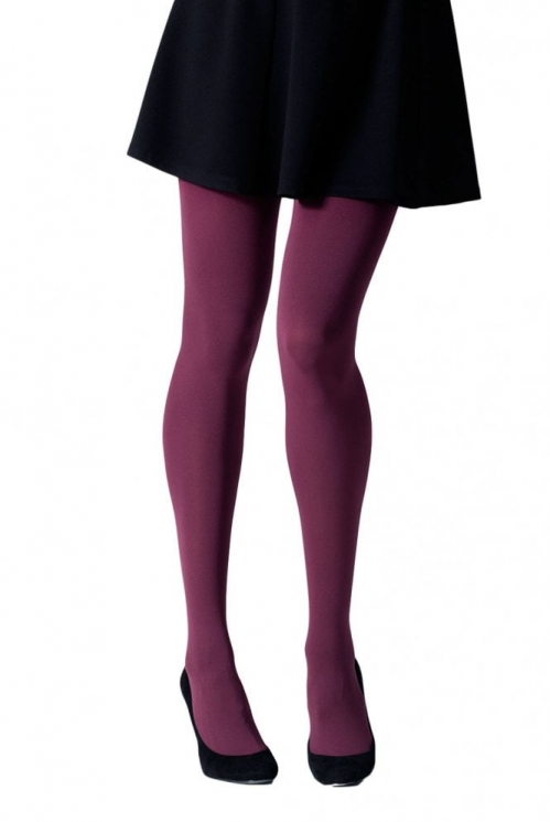 Plum 100 Denier Tights