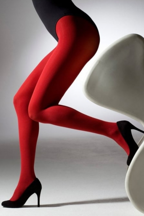 Red 100 Denier Tights