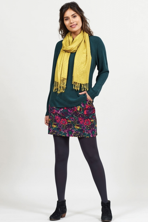 Bay Ethically Made Gypsy Print Cord Skirt