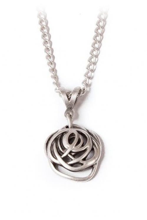 Silver Honey Chain Necklace (back)