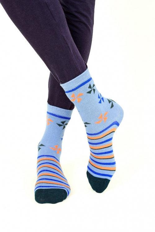 Sea Blue Kite Organic Cotton Socks
