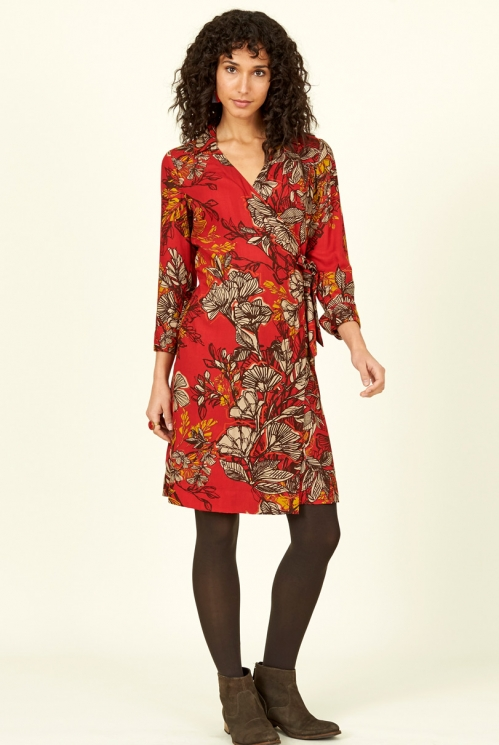 Holly Long Sleeve Wrap Dress