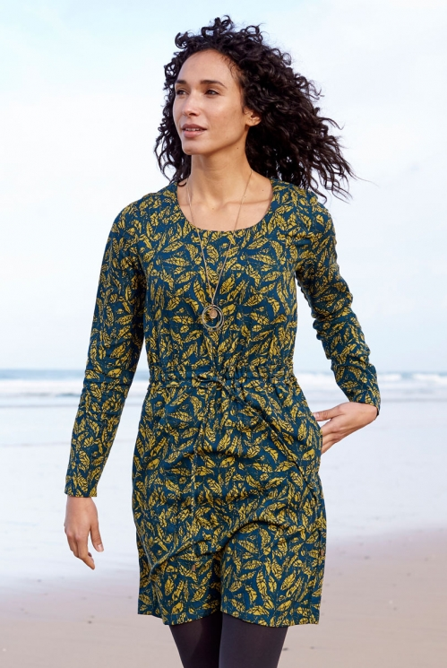 Biscay Lyocell Ruched Waist Tunic Dress
