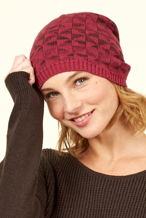 Damask Merino Wool Kite Knit Hat