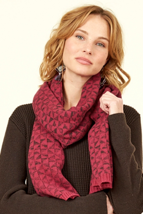 Damask Merino Wool Kite Knit Scarf