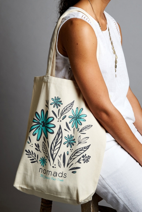 Blue Ethically Made Nomads Organic Bag