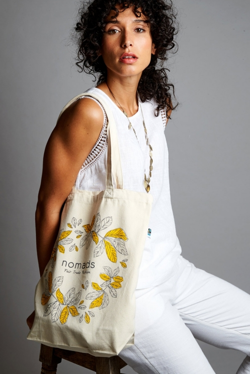 Yellow Fair Trade Nomads Organic Bag