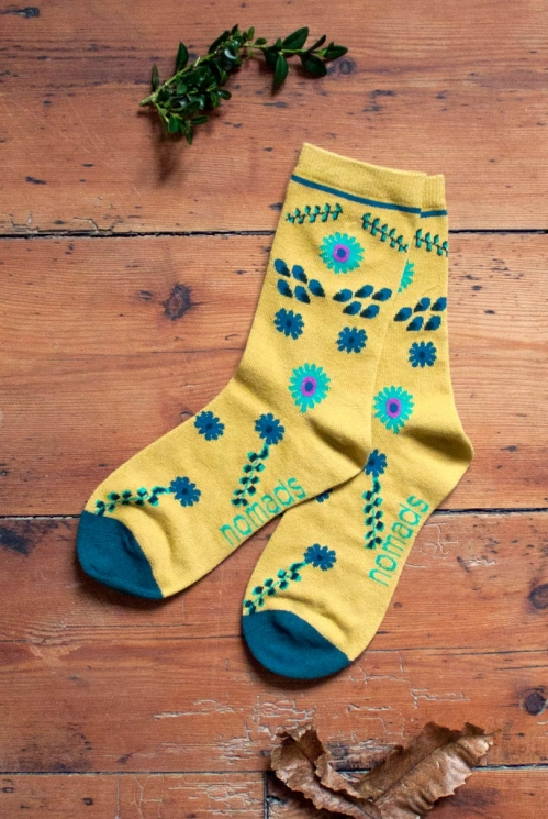 Citrine Organic Cotton Bloomsbury Socks