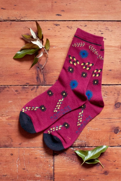 Damask Organic Cotton Bloomsbury Socks