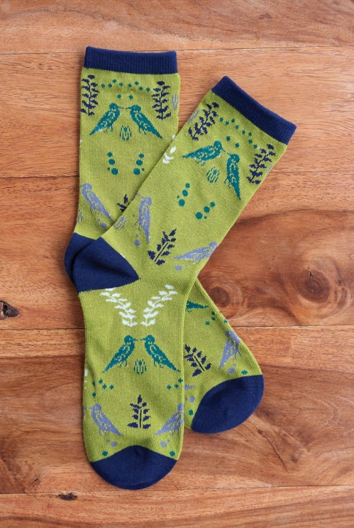Artichoke Sustainable Organic Cotton Cornish Chough Socks