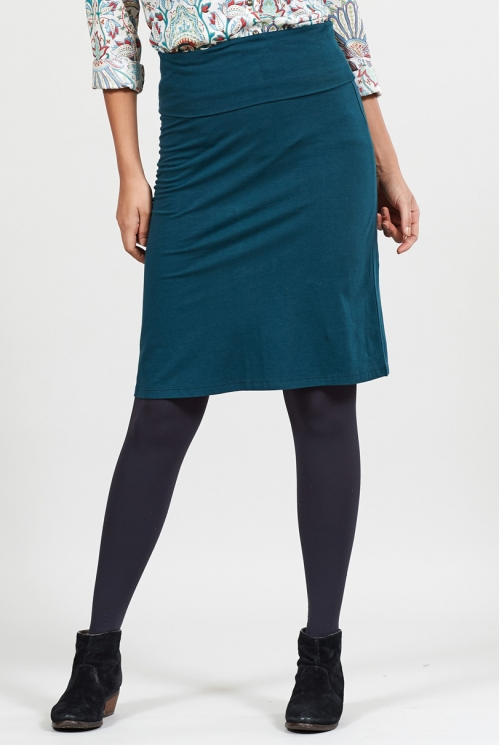 Myrtle Organic Cotton Fold Over Waistband Skirt