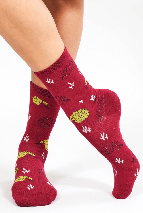 Berry Sustainable Organic Cotton Hedgehog Socks