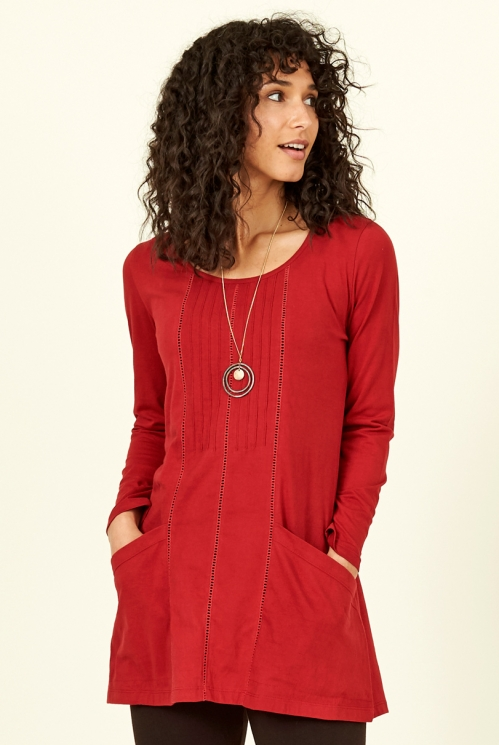 Holly Organic Cotton Pintuck Pocket Tunic