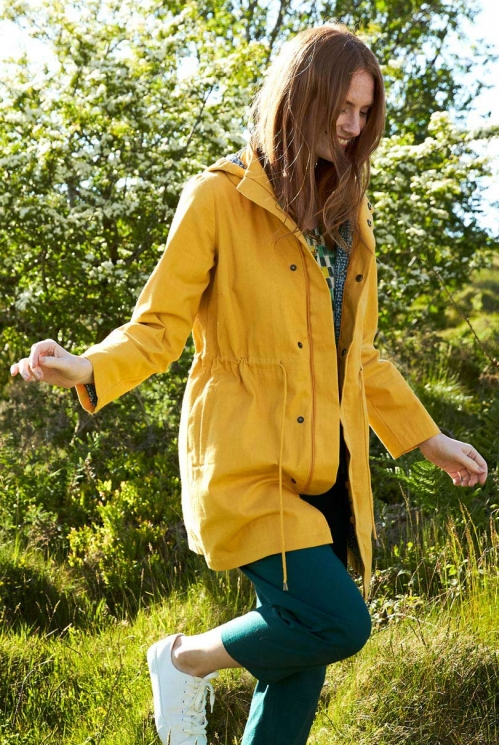 Dandelion Yellow Ethically Made Organic Cotton Raincoat
