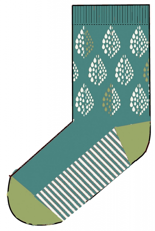 Wave Organic Cotton Solitaire Socks