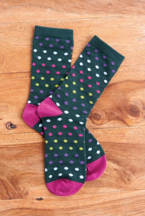 Bay Sustainable Organic Cotton Spotty Socks
