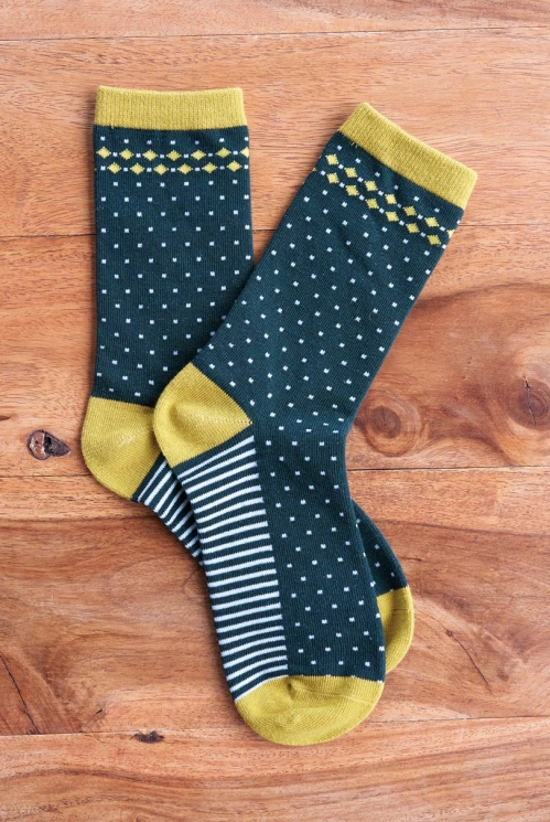 Bay Organic Cotton Stripe and Spot Socks