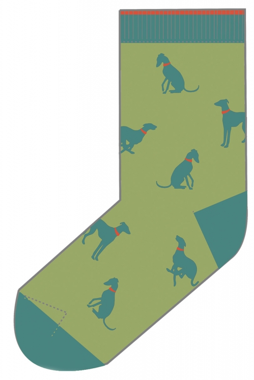 Kiwi Organic Cotton Whippet Socks