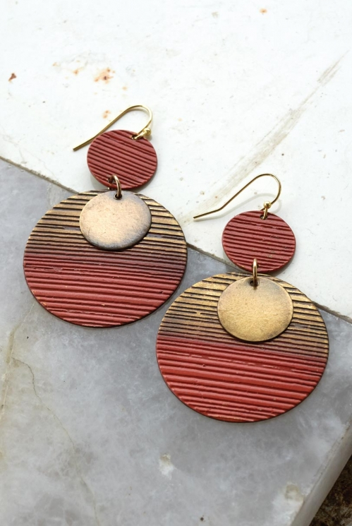 Amber Orissa Circle Earrings