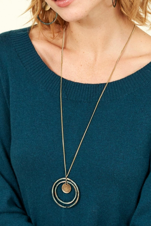 Biscay Patina Loop Necklace