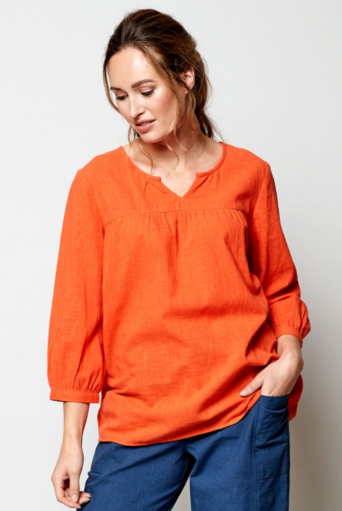Mango Plain Cotton Floaty Top