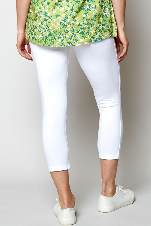 White Cropped Legging