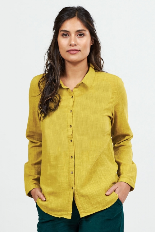 Lemongrass Fair Trade Plain Textured Cotton Shirt
