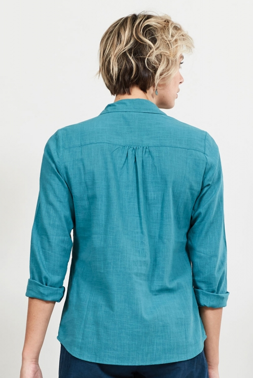 Mallard Sustainable Plain Textured Cotton Shirt