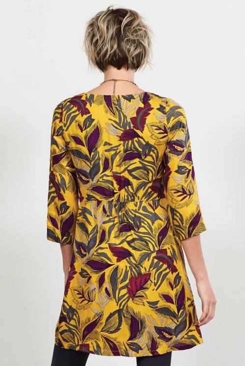 Graphite Fair Trade Printed Asymmetric Pleat Tunic Dress