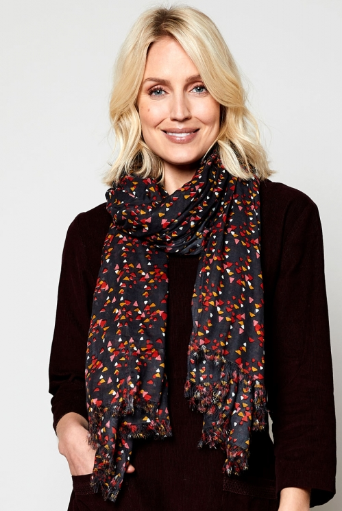 Rock Printed Triangles Scarf