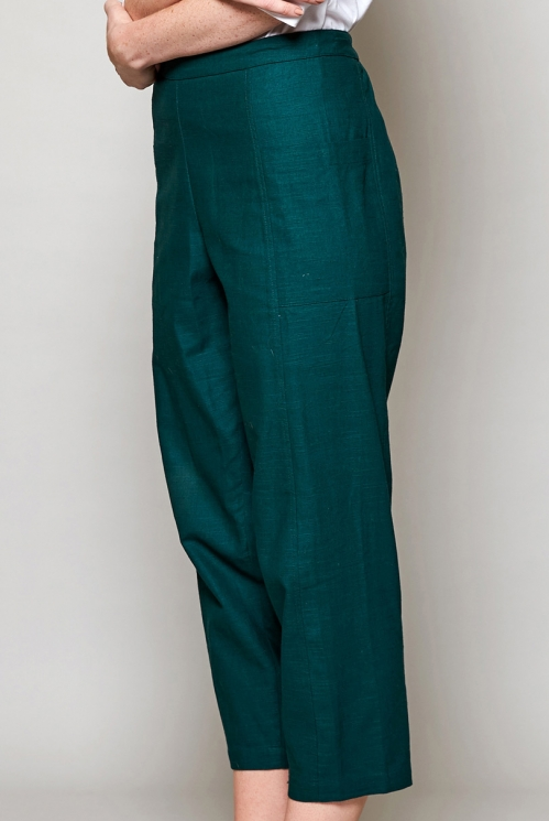 Pine Relaxed Crop Trouser